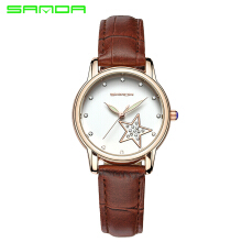 SANDA 2018 New Star Women Fashion Watch Lady Dress Wristwatches Quartz Clocks