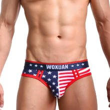 mokoado American Flag Mens  Underwear Shorts Men Underpants Breathable Briefs Pantie