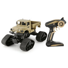 COZIME ZEGAN ZG-C1231WS 1/12 4WD 2.4G Caterpillar RC Military Truck Off-Road Car Blue