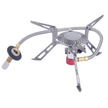 Dpower Mini Portable Folding Camping Gas-powered Stove with Piezo Ignition Silver