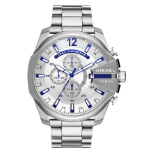 Diesel DZ4477 Mega Chief Men Silver Dial Stainless Steel [DZ4477]