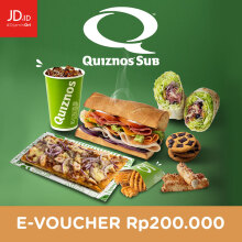 Quiznos Sub - Voucher Value Rp. 200.000