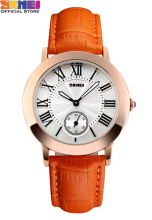 SKMEI Jam Tangan Wanita Analog 1083 Orange Water Resistant 30M