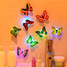 Butterfly LED Lights Color Change Lights Desk Wall Decoration Lights 1pcs - Random Colors