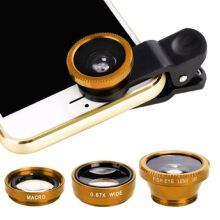 3pcs Cell phone lens Take photo magnifier Gold
