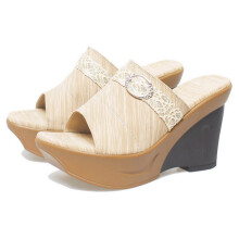 SANDAL HIGH HEELS / WEDGES KASUAL WANITA - BSP 732
