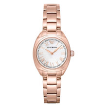 Emporio Armani Dress AR11038 Ladies Silver Dial Rose Gold Stainless Steel Strap [AR11038]