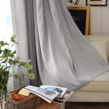 FOOJO Fu Cheng finished curtains meteor patterns shading floor curtains 2 * 2.7M (high) Nordic gray