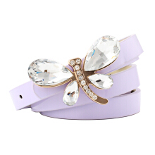 SiYing Korean fashion rhinestone inlaid buckle ladies belt