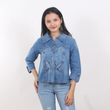 ADORE Jaket Silang Light Blue All Size