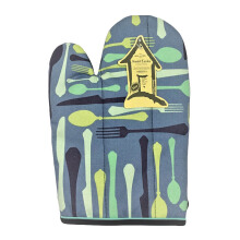 ARNOLD CARDEN Oven Mitts Sendok and Garbu Right Side - Biru Tua 17x25cm