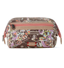 Sakroots Carryall Cosmetic Bag Slate Song Bird Multicolor