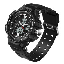 PEKY Brand watch men rubber band LED digital sports waterproof diving quartz military watch