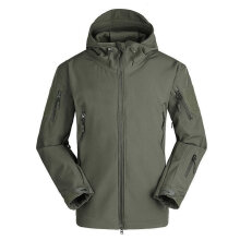 Men Outdoor Military Tactical Jacket Windproof Keep Warm Hooded Outwear Coat green L