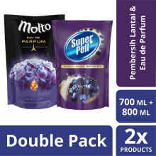 Paket SUPER PELL Himalayan Berries Refill 700ml & MOLTO EDP Black Purple Pouch 800ml