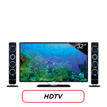 POLYTRON LED TV 32 Inch HD - PLD32TS1503 [Speaker Tower]