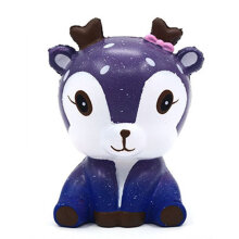 [kingstore] Kawaii Cartoon Deer Squishy Slow Rising Cream Scented Stress Reliever Toy Light Purple