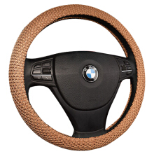 Mary Kay Handmade Steering Wheel Cover Breathability Skidproof Universal Fits Most Car Styling Steering Wheel brown