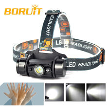 BORUiT Rechargeable 5W LED Infrared Sensor Headlamp Headlight Camping Flashlight fishing lightweight Flashlight Head torch lamp