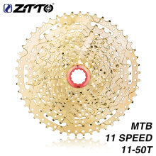 [LESHP] ZTTO 11 Speed Cassette 11-50T Compatible Bike High Tensile Steel Gold Gear Gold