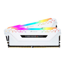 CORSAIR DDR4-3000 16GB Vengeance RGB PRO For Desktop PC (2X8GB) White CMW16GX4M2C3000C15W