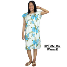 Batik Alhadi (BPT002-167) - Dress Midi - Motif Bunga -  All Size