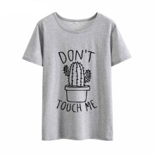 Jantens Cactus T shirt Women Casual Summer Tshirts Cotton Womens tops
