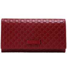 GUCCI Women's  Red Cowhide Wallet 449396 BMJ1G 6420