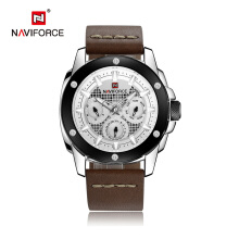 NAVIFORCE Luxury Brand Men Quartz Watch Men'S Waterproof Sports Watches Man Leather Wristwatch