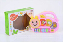 Kaptenstore Mainan Anak Caterpillar Music ELF Piano - Animal Ulat Light Pink