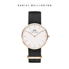 Daniel Wellington Classic Nato Watch Cornwall White Eggshell White 36mm