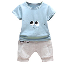 BESSKY Newborn Infant  Baby Cartoon Eyes T-shirt Tops  Pants Outfits Clothes Sets_