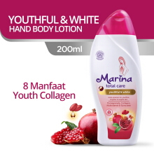 MARINA Hand & Body Lotion UV White Lotion Total Care Youthful & White 200 ml