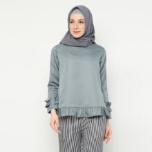 NAFEESA Tunik Adiva Gray Allsize Grey All Size