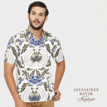 JAYASHREE BATIK Slim Fit Short Sleeve Kalya - Beige