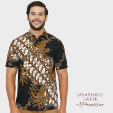 JAYASHREE BATIK Slim Fit Short Sleeve Pradita - Black