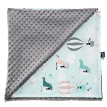 La Millou Minky Calming Light Large Blanket L - Helicopter - Grey XL098Y