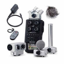 Zoom H6 Handy Recorder with Interchangeable Microphone System Black