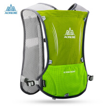 AONIJIE Outdoor 5L Running Backpack Hiking Cycling Lightweight Sport Bag for 1.5L Waterbag Light Green
