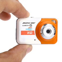 Aosen Portable HD DV Digital Camera Support Motion Detection Sweet Orange