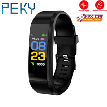 PEKY 115plus Smart Watch Wristband Heart Rate Monitor Fitness Tracker band for IOS Android