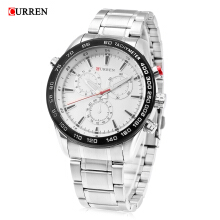 Curren 8189 Male Stainless Steel Band Quartz Watch 3ATM Luminous Men Wristwatch