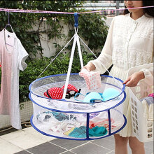 [kingstore] High quality closed wind proof clothes basket double clothes drying basket / drying basket can fold air drying net White