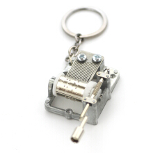 Jantens Keychain DIY Music Box Keychain Music Movement Set happy birthday and Castle in the Sky