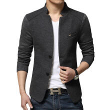 Farfi Men's Autumn Jacket Casual Long Sleeve Slim Fit Button Coat Outwear