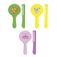 Baby Safe Brush and Comb Set Color Yellow