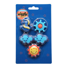 WIGGLE Nautical 3D Eraser Set Random Color