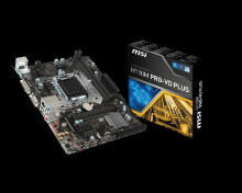 MSI Motherboard H110M Pro - VD Plus Black