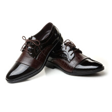 SiYing Casual fashion pointed men's leather shoes daily dress shoes
