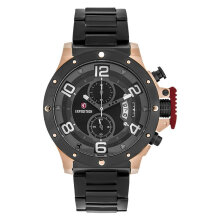 Expedition E 6750 MC BBRBA Chronograph Men Black Dial Black Stainless Steel Strap [EXF-6750-MCBBRBA]